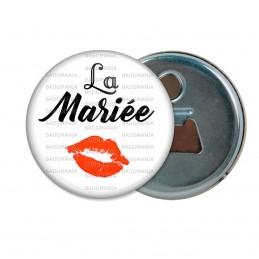 Décapsuleur 6cm Aimant Magnet La Mariée - Baiser Rouge Mariage Cérémonie