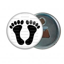 Décapsuleur 6cm Aimant Magnet Pieds Noirs Fond Blanc Algérie Maroc Tunisie Pied Noir