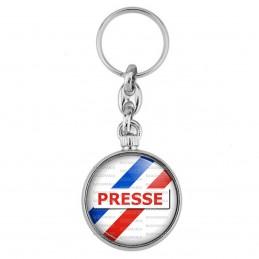 Porte-Clés forme Montre Antique 2 faces Presse Reporter Journaliste