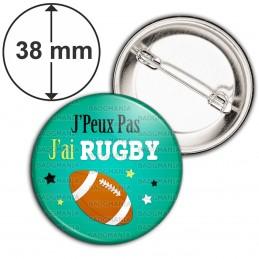 Badge 38mm Epingle J'Peux Pas J'ai RUGBY