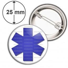 Badge 25mm Epingle Croix de Vie Santé Ambulance