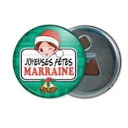 Décapsuleur 6cm Aimant Magnet Joyeuses Fêtes MARRAINE Noël Gui Cloches
