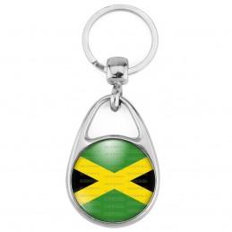 Porte Clés Métal 2 Faces Logo 3cm Drapeau Jamaïcain Jamaïque Croix de Saint André