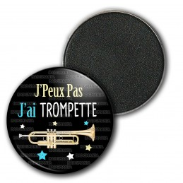 Magnet Aimant Frigo 3.8cm J'Peux Pas J'ai Trompette - Instrument Musique