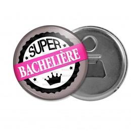 Décapsuleur 6cm Aimant Magnet BAC - Super Bachelière - Couronne Rose Gris