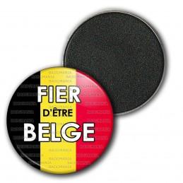 Magnet Aimant Frigo 3.8cm Fièr d'Etre Belge Drapeau Belge