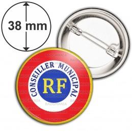 Badge 38mm Epingle Cocarde RF Conseiller Municipal
