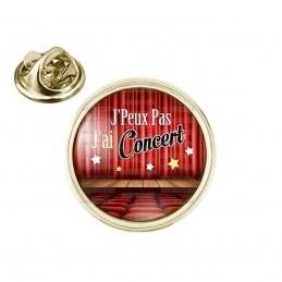 Pin's rond 2cm doré J'Peux Pas J'ai Concert - Salle de Spectacle Musique