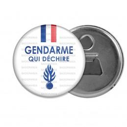 Décapsuleur 6cm Aimant Magnet Gendarme qui déchire - Bleu Blanc Rouge Flamme Bleu Fond Blanc