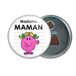 Décapsuleur 6cm Aimant Magnet Madame MAMAM Patate - Blanc