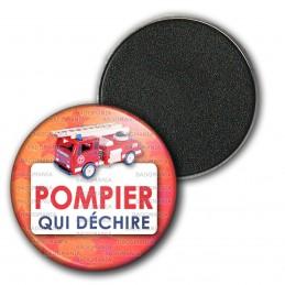 Magnet Aimant Frigo 3.8cm Pompier Qui Déchire - Camion SP Grande Echelle