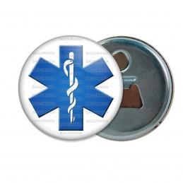 Décapsuleur 6cm Aimant Magnet Croix de Vie Caducée Santé