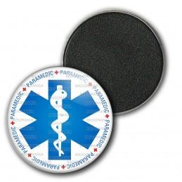 Magnet Aimant Frigo 3.8cm Croix de Vie Paramedic Caducée Santé