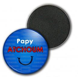 Magnet Aimant Frigo 3.8cm Papy Atchoum - Fond bleu