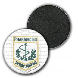 Magnet Aimant Frigo 3.8cm Sapeurs Pompiers SP Ecusson Pharmacien