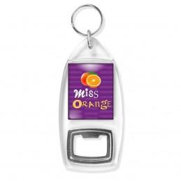 Porte Clés Décapsuleur Miss Orange - Fruit orange sur fond violet
