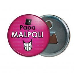 Décapsuleur 6cm Aimant Magnet Papa Malpoli - Fond violet