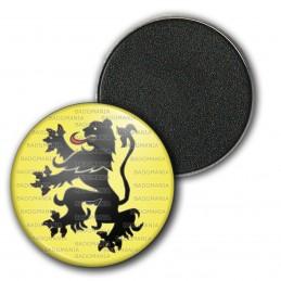 Magnet Aimant Frigo 3.8cm Blason Nord Pas de Calais Drapeau Symbole France