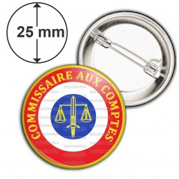 Badge 25mm Epingle Cocarde Commissaire Aux Comptes