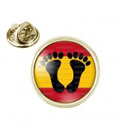 Pin's rond 2cm doré Pieds Noirs Espagnols Drapeau Espagne Algérie Maroc Tunisie Pied Noir