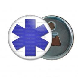 Décapsuleur 6cm Aimant Magnet Croix de Vie Santé Ambulance