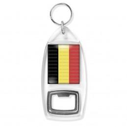 Porte Clés Décapsuleur Drapeau Belge Belgique Belgium Flag Emblème Tricolore Noir Or Rouge
