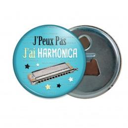 Décapsuleur 6cm Aimant Magnet J'Peux Pas J'ai Harmonica - Instrument Musique