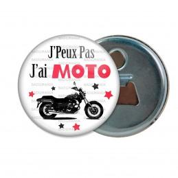 Décapsuleur 6cm Aimant Magnet J'Peux Pas J'ai Moto - Motard