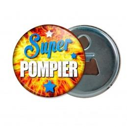 Décapsuleur 6cm Aimant Magnet Super Pompier - Fond Feu Flamme Rouge Orange Etoiles