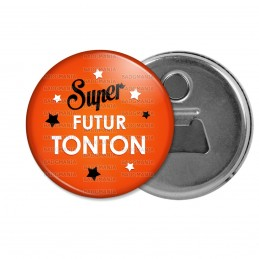 Décapsuleur 6cm Aimant Magnet Super Futur TONTON - Etoiles Fond Orange