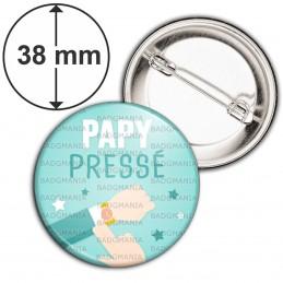 Badge 38mm Epingle Papy Pressé - Montre